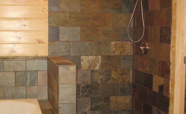 Best Slate Shower Ideas Pinterest Bathroom