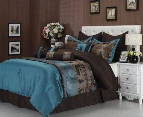 Best Teal Brown Bedding Pinterest