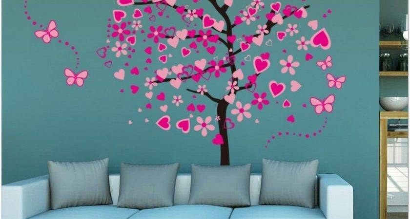 Best Wall Painting Designs Girls Modern Stickers