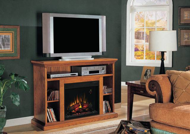 Beverly Electric Fireplace Stand Premium Oak