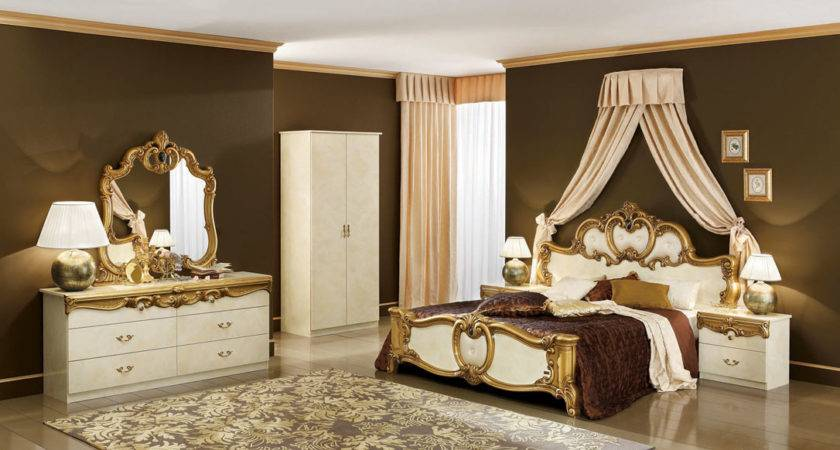 Biaggio Ivory Gold Bedroom Collection Classic