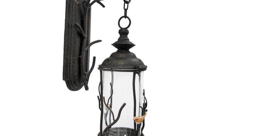 Birds Branches Decorative Wall Mounted Hanging Lantern