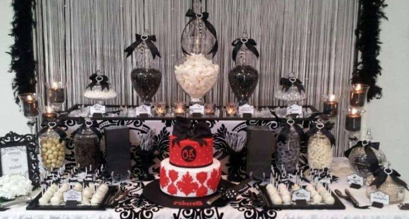 Birthday Party Beautiful Black White Silver