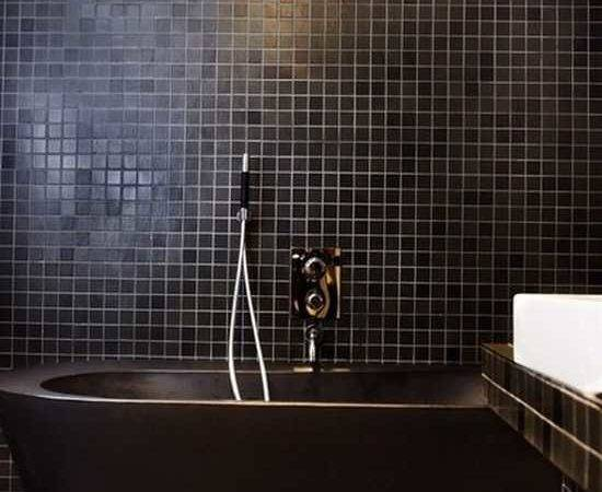Black Bathroom Fixtures Decor Keeping Modern