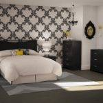 Black Color Contemporary Bedroom