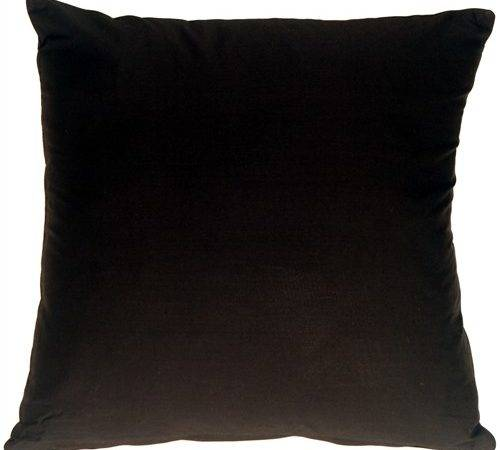 Black Cotton Small Throw Pillow Decor