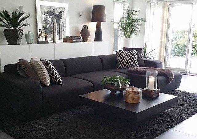 Black Couch Living Room Ideas Inviting