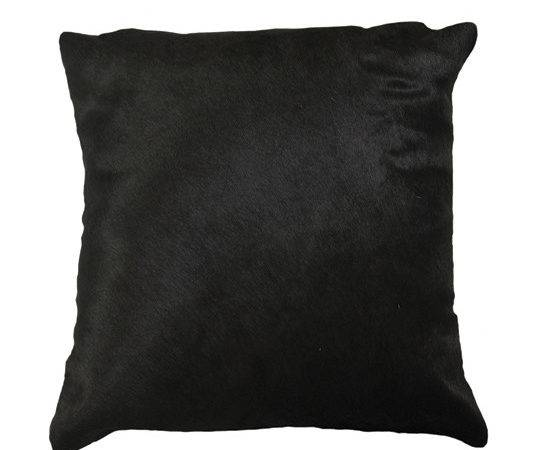 Black Cowhide Pillows