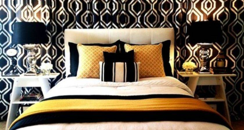 Black Gold Bedroom Ideas White