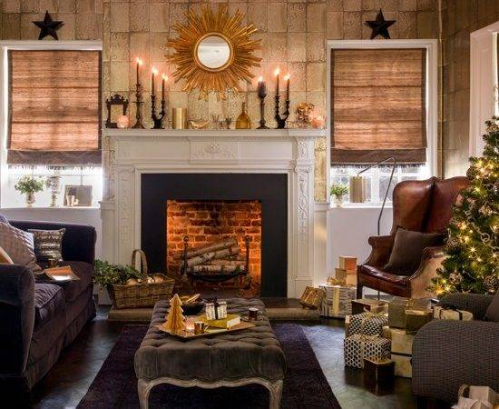 Black Gold Festive Living Room Housetohome