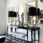 Black Gold Living Room Eclectic
