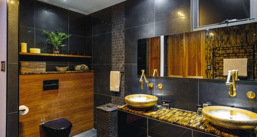 Black Gold Luxury Bathroom Completehome