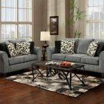 Black Gray Living Room Furniture Leather