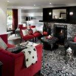 Black Grey Red Living Room Ideas