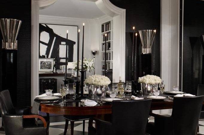 Black Leather Dining Chairs Contemporary Room
