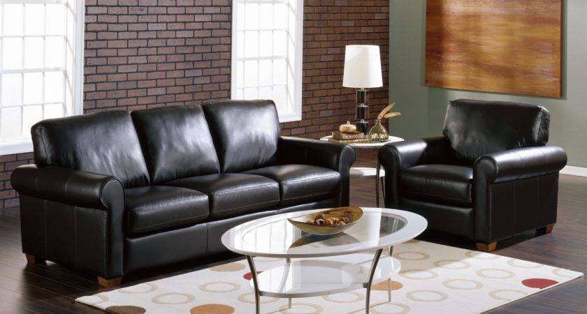 Black Leather Living Room Furniture Roselawnlutheran
