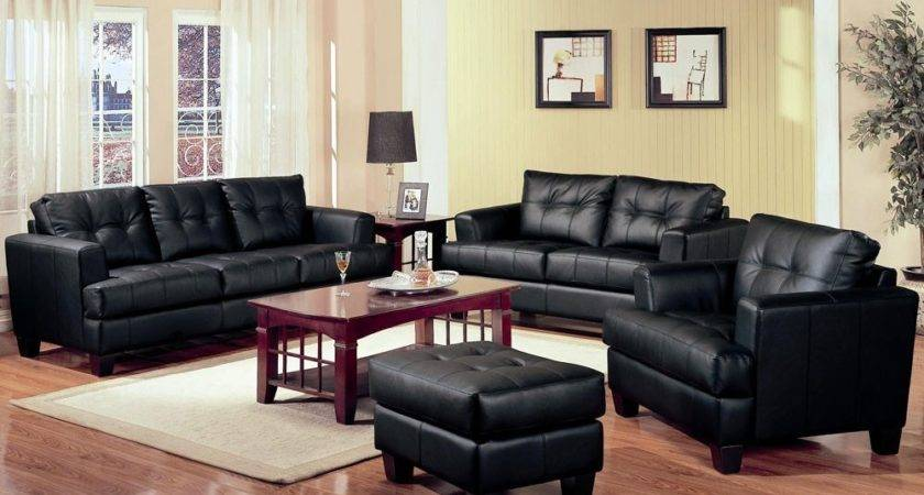 Black Leather Living Room Set Inspiration Decosee