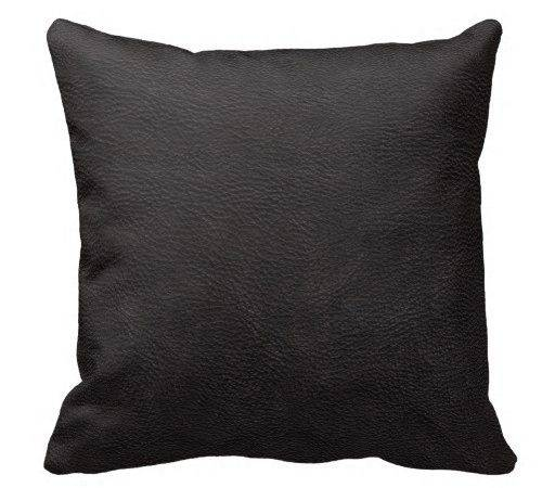 Black Leather Print Texture Pattern Throw Pillows Zazzle