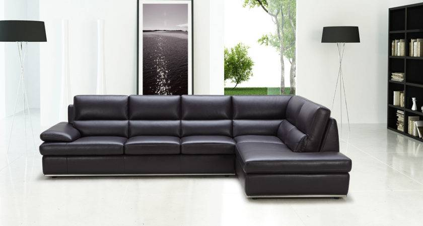 Black Leather Sectional Sofa Hereo
