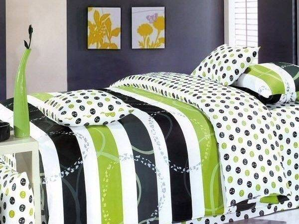 Black Lime Green Bedding Covers Sets Domestic Curator