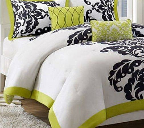 Black Lime Green Bedding Decorate House