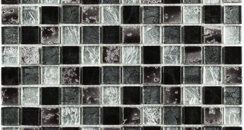 Black Mosaic Tile Marble Glass