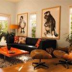 Black Orange Living Room Ideas Dorancoins