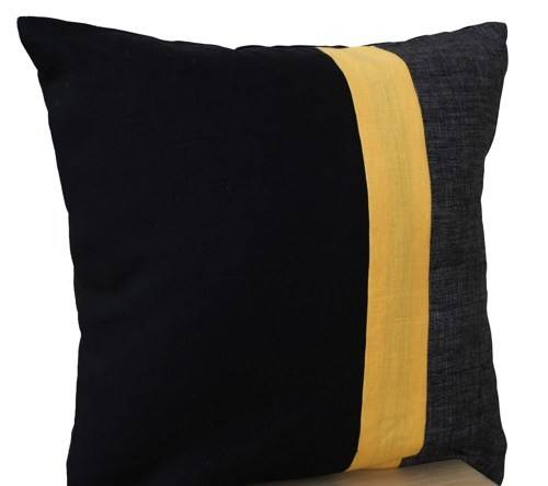 Black Pillow Throw Color Block Couch Pillows