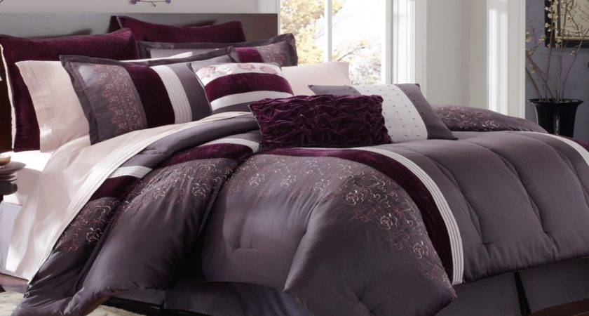 Black Purple Comforter Sets Grey Bedroom