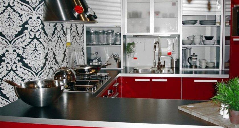 Black Red Kitchen Designs Spectacular Themes