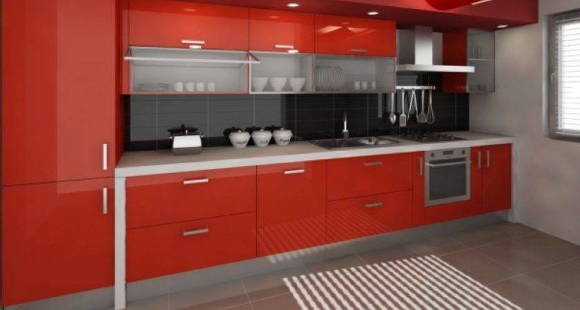 Black Red Kitchen Designs