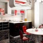 Black Red Kitchen Home Decorating Ideas