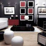 Black Red White Livingroom Interior Designs Your