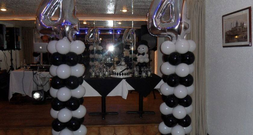 Black Silver Party Decorations Promotion