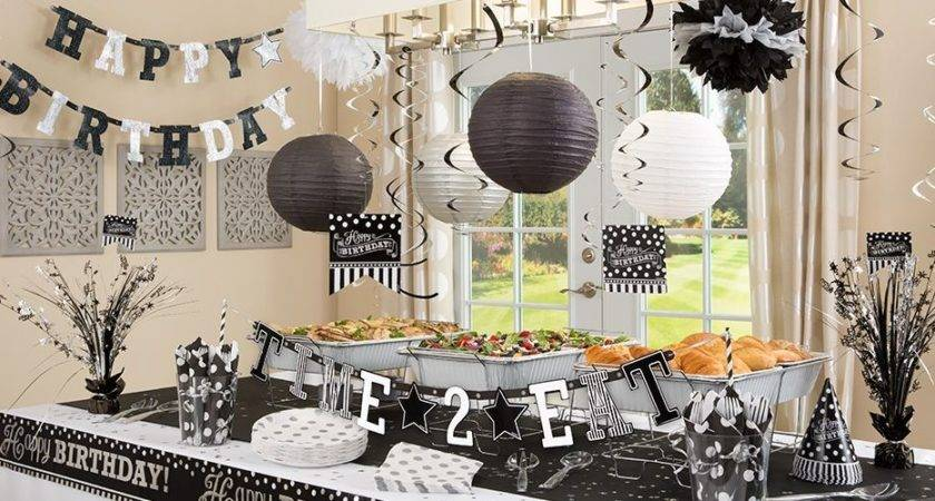 Black Silver White Party Decorations Decoration Ideas