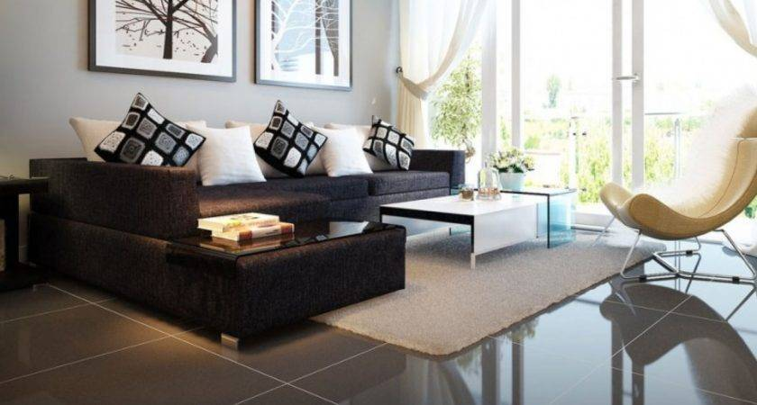 Black Sofa Interior Design Living Room Ideas