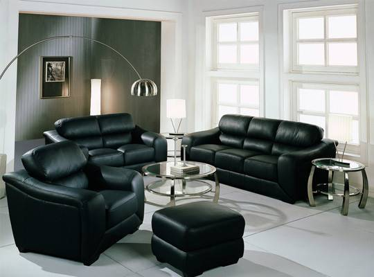 Black Sofa Living Room Decoration Ideas Home