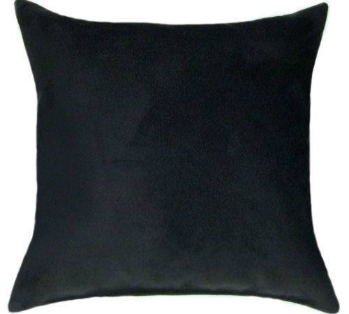 Black Suede Throw Pillow Sofa Accent Sale