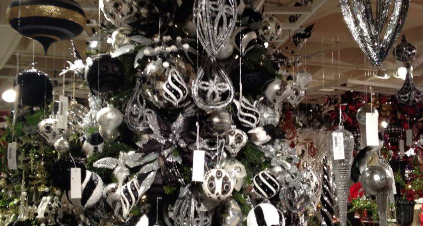 Black White Christmas Tree Silver