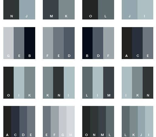 Black White Color Schemes Combinations