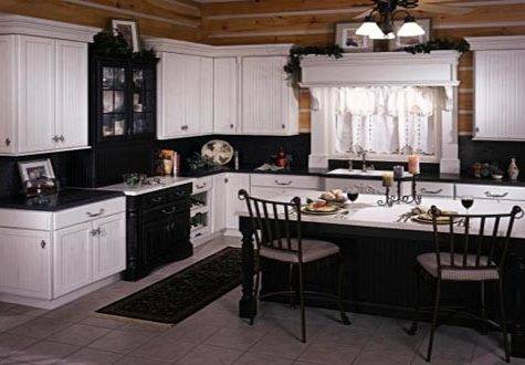 Black White Country Kitchen Home Trendy