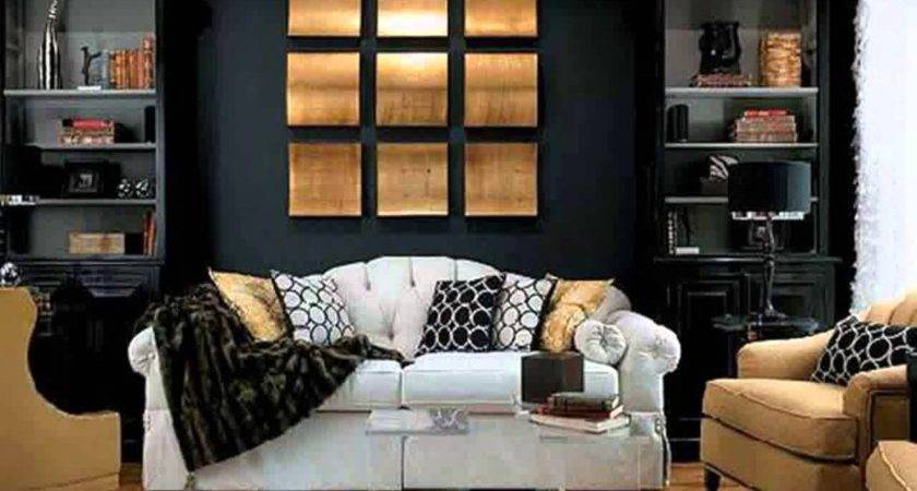 Black White Gold Living Room Ideas Pixshark