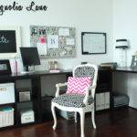 Black White Home Office Workspace Magnolia Lane