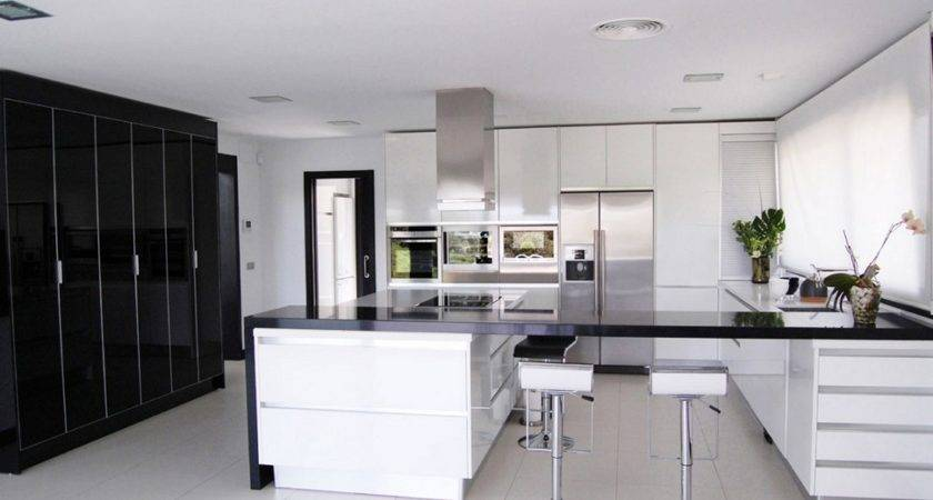 Black White Kitchens Their Elements