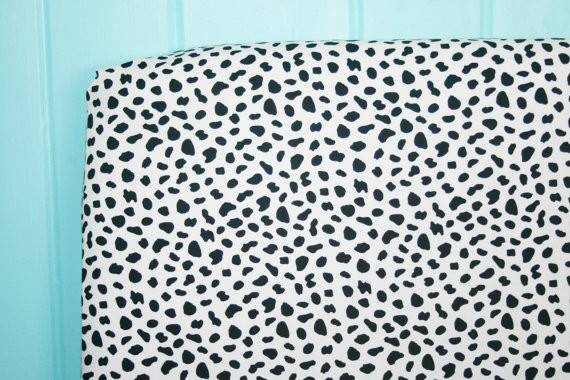 Black White Leopard Print Fitted Crib Sheet Ahoyboutique