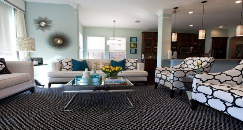 Black White Living Room Accent Color