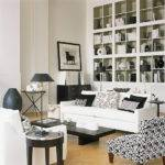Black White Living Room Contemporary