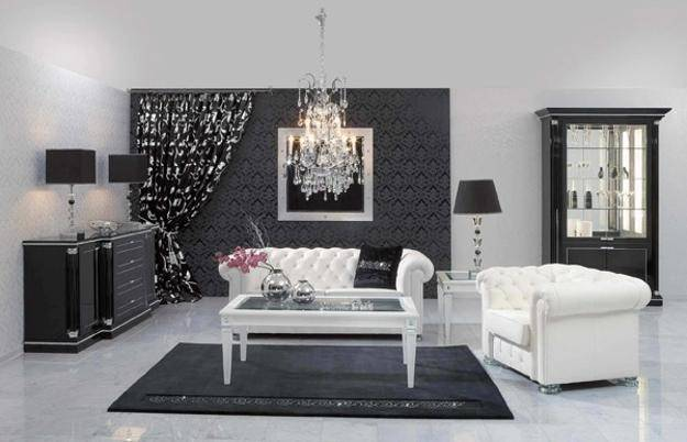 Black White Living Room Designs Bringing Elegant