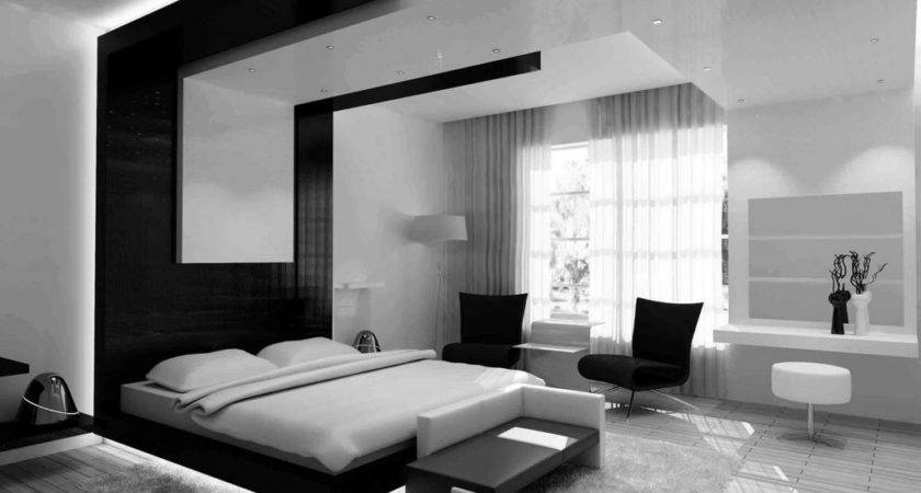 Black White Modern Bedroom Ideas Design