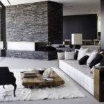 Black White Modern Living Room Design Ideas